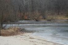 2018-01-12-Cunningham Falls-Frozen Beach